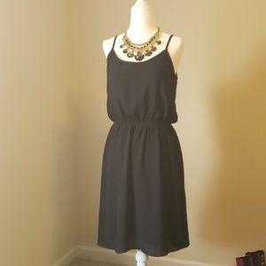 Studio Y Black Dress Strappy Back Size M *EUC*
